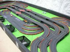 6 lane track layout kids race car